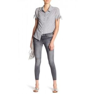 Black Orchid Grey Wash High-Rise Distressed Jean